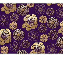Gold And Purple Flowers Photographic Print