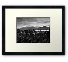 View To The Swiss Alps Switzerland Framed Print