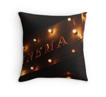a night at the movies Throw Pillow