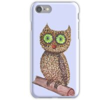 water color owl  iPhone Case/Skin