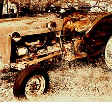 Old Ford RoadMaster Tractor          ( Bone Yard Series ) by Carla Jensen