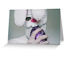 Evil Bunny Greeting Card