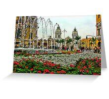 Plaza de Armas, Lima, Peru Greeting Card