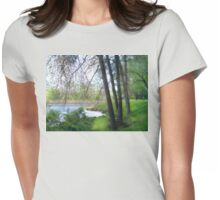 A dreamy day in spring Womens Fitted T-Shirt