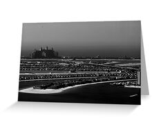 Palm Island And Atlantic The Palm Hotel Dubai Greeting Card
