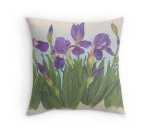 Wild Irises Samos, Greece Throw Pillow