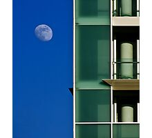 The moon and the building Photographic Print