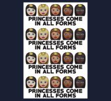 Princesses Print One Piece - Short Sleeve