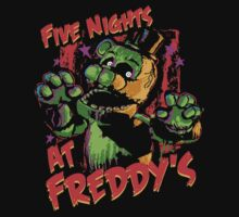 Five Nights At Freddy's Phantom Freddy Kids Tee