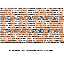 Houston Dash Roster Print (Version 1) by seeaykay