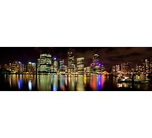 Brisbane Riverside, Australia, by Night Photographic Print
