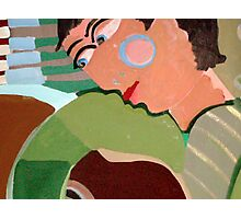 Green guitar player For sale 250.00 Euros Photographic Print