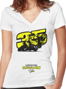 Cal Crutchlow - Monster! Women's Fitted V-Neck T-Shirt