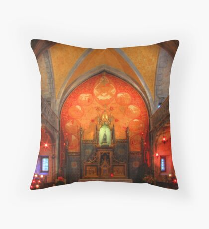 Rocamadour, France, La Chapelle Notre Dame Throw Pillow