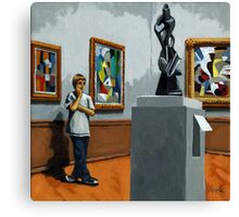 Abstract Position - boy portrait Canvas Print