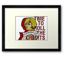 roll the credits Framed Print