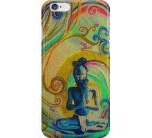 Blue Yogi - Design 1 iPhone Case/Skin