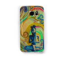 Blue Yogi - Design 1 Samsung Galaxy Case/Skin