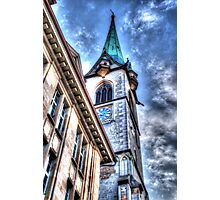 A Church In Old Zurich Town Photographic Print