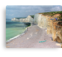 Birling Gap and the Seven Sisters - HDR Canvas Print