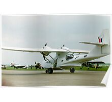 White Catalina PBY Poster