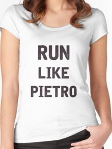 Run Like Pietro  Women's Fitted Scoop T-Shirt