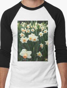 Daffodils, NYC Men's Baseball ¾ T-Shirt