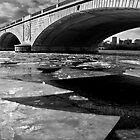 Memorial Bridge Over the Frozen Potomac River by Paul Bohman