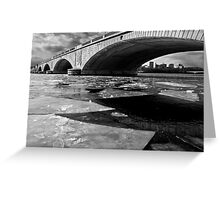 Memorial Bridge Over the Frozen Potomac River Greeting Card