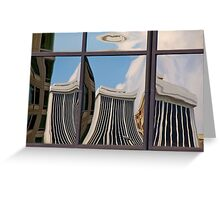 Cityscape Reflection, Number 2 Greeting Card