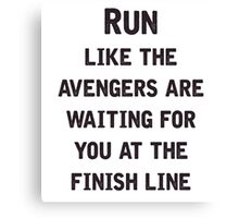 Run to the Avengers Canvas Print
