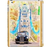 Black London Taxi - Classic British Style iPad Case/Skin