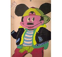 Micky Mouse - Baby drawing  Photographic Print