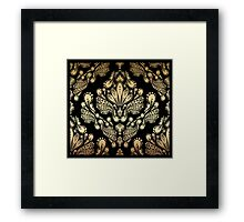 Decorative seamless floral ornament Framed Print