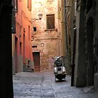 Medieval alley & 21st century scooter, Centro Storico, Perugia, Italy by Philip Mitchell