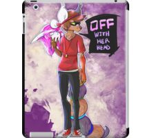 Off With Her Head iPad Case/Skin