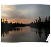 Sunset on Vermillion Lake Poster