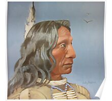 Red Cloud (from a 19th century photograph) Poster