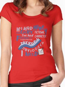 If I had money for every fictional character I've...   Women's Fitted Scoop T-Shirt
