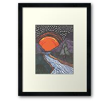 Starry Sunrise Over the Mountains Framed Print