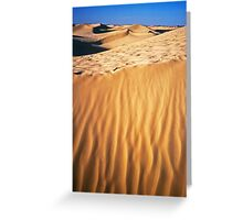 Fiery desert sand Greeting Card