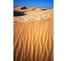 Fiery desert sand Photographic Print