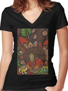 Cheshire Cat Tee Women's Fitted V-Neck T-Shirt