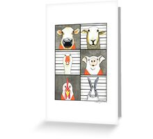 The Farmyard Gang got caught Greeting Card