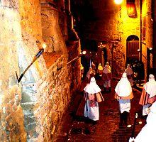 Easter Procession in Enna, Sicily, Italy by Igor Pozdnyakov