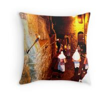 Easter Procession in Enna, Sicily, Italy Throw Pillow