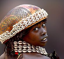 HAMAR GIRL - ETHIOPIA by Michael Sheridan