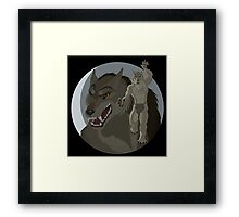 Were Pride  - Tan Wolf - Black Background Framed Print