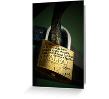 Enchained promises Greeting Card