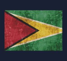 Vintage Aged and Scratched Guyanese Flag Kids Tee